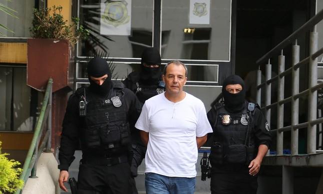 O ex-governador Sérgio Cabral foi preso na Operação Calicute, em novembro de 2016