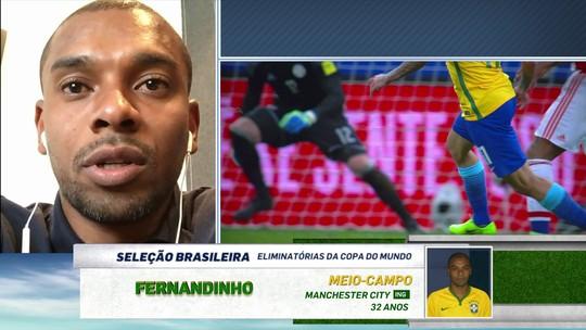 """Fernandinho diz que futebol no Brasil destoa da Seleção: """"Deixa a desejar"""""""
