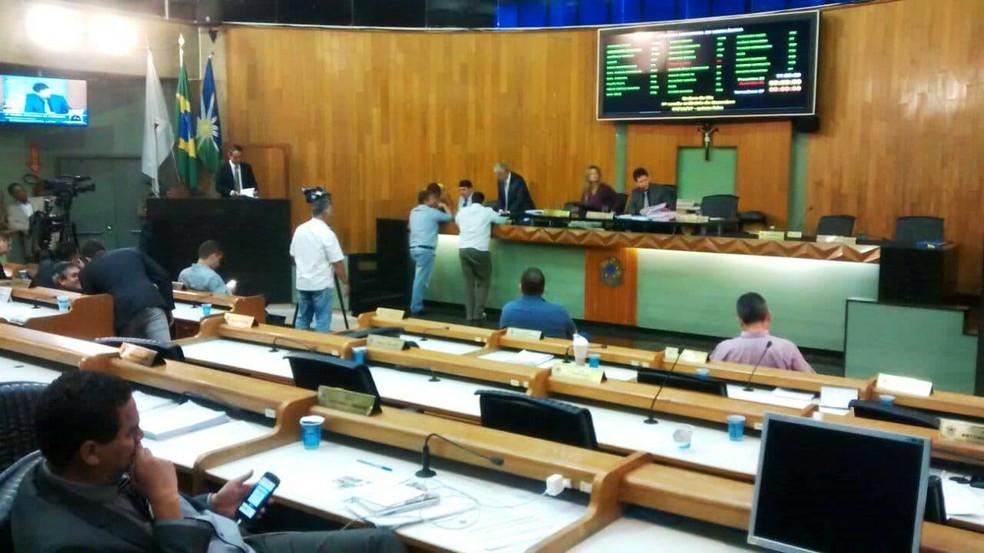 -  Projeto foi aprovado na manhã desta quinta-feira na Câmara Municipal de Uberlândia  Foto: Pedro Torres/G1