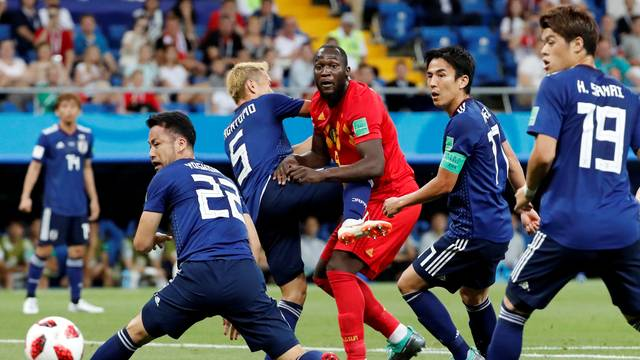 Lukaku, da Bélgica, contra o Japão