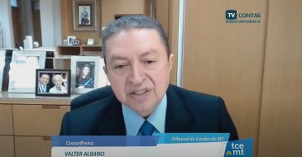 Valter Albano retornou ao TCE e hoje é corregedor do órgão — Foto: TCE-MT