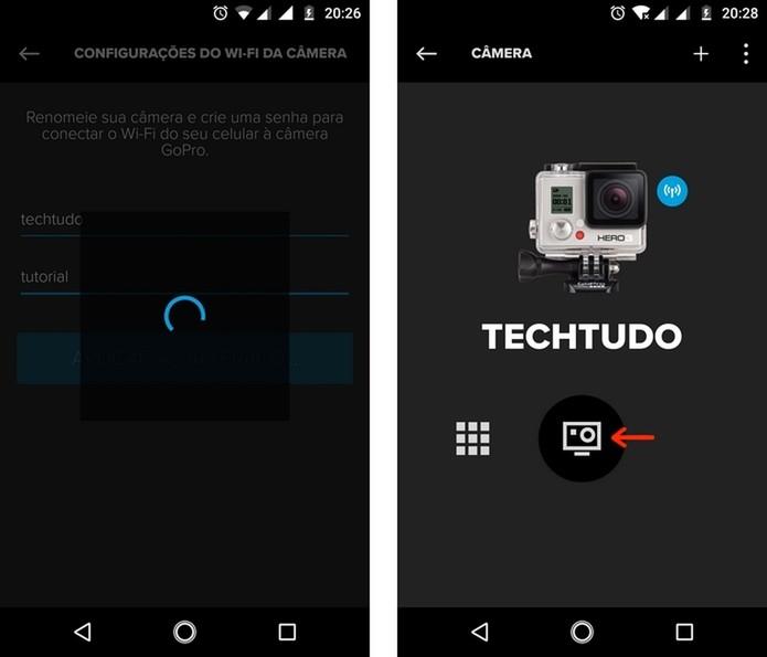 Reconexão da GoPro ao app após mudanças na rede Wi-Fi (Foto: Reprodução/Raquel Freire)