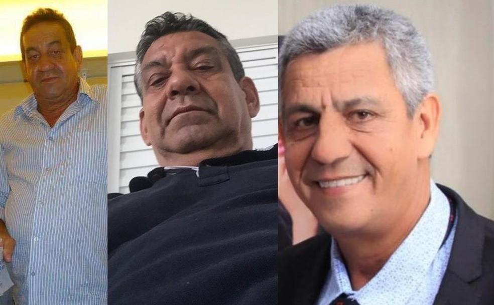 Idalio, Indalecio e Aluísio Duarte Amorim morreram vítimas do coronavírus em Cuiabá — Foto: Arquivo pessoal