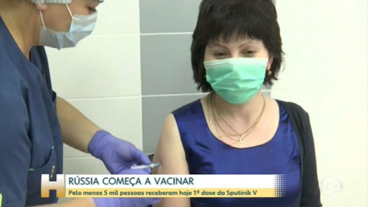 Rússia é o primeiro país do mundo a começar a vacinação em massa contra a Covid -19