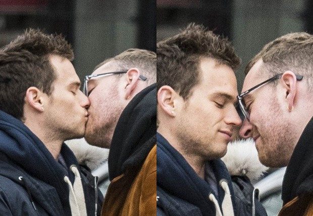 Brandon Flynn e Sam Smith (Foto: BackGrid)