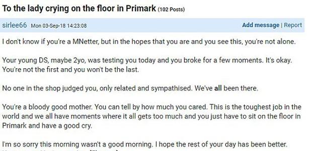 Carta à mãe desconhecida postada em fórum (Foto: Reprodução)