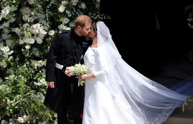 O beijo de Meghan e Harry no casamento real (Foto: Getty Images)