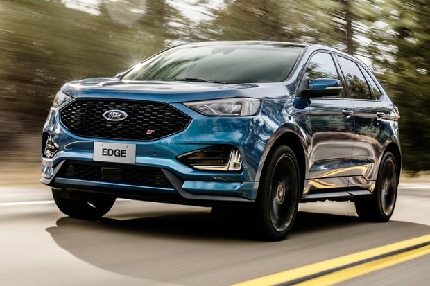 Ford Edge ST tem decoração esportiva e vai aos 100 km/h em 6,7 s (Foto: Divulgação)