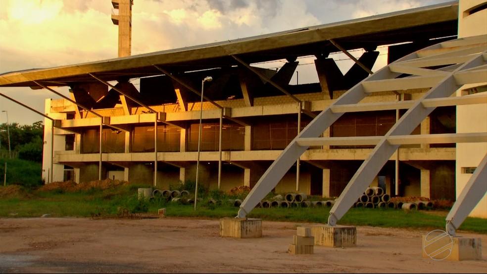 Obra da Copa, COT da UFMT está inacabado em Cuiabá — Foto: TVCA/ Reprodução