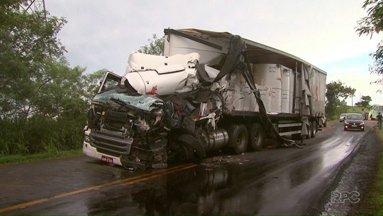 Motorista de caminhão morre em acidente entre Missal e Medianeira