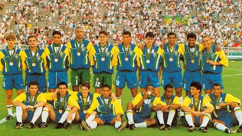 Seleção brasileira bronze em Atlanta 1996 — Foto: Divulgação/CBF
