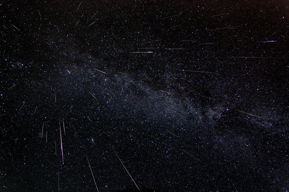 Chuvas de meteoros são chamadas de estrelas cadentes (Foto: NASA/F. Bruenjes)