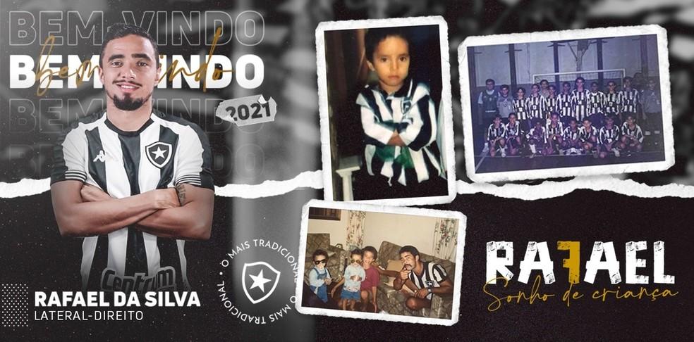Rafael, novo reforço do Botafogo — Foto: Divulgação