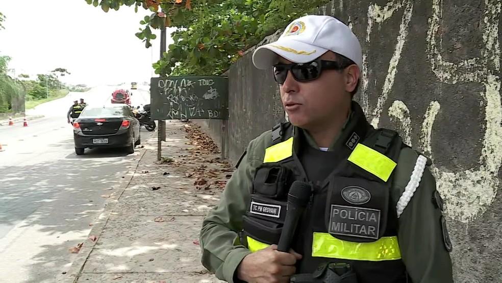 Tenente-coronel Geovani Nascimento, comandante do BPTran, ressaltou a importância das medidas — Foto: Reprodução/TV Globo