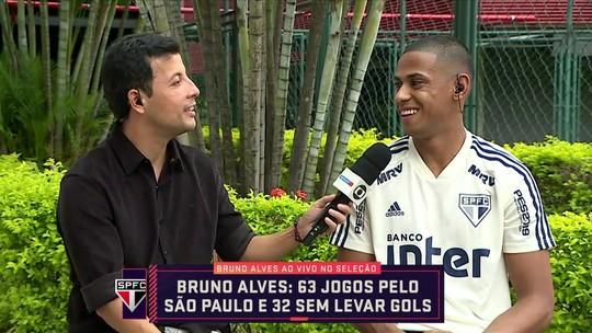 Bruno Alves destaca momento bom da defesa do São Paulo e mira final contra o Corinthians