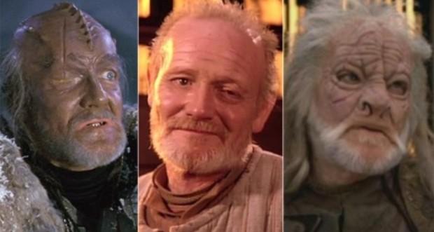 William Morgan Sheppard no filme Star Trek VI (1991), e nas séries Star Trek: The Next Generation (1987-1994) e Star Trek: Voyager (1995- 2001) (Foto: Divulgação)