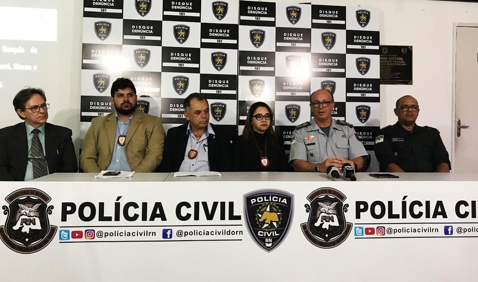 Polícia Civil detalhou investigação da Operação Sal da Terra — Foto: Acson Freitas/Inter TV Cabugi