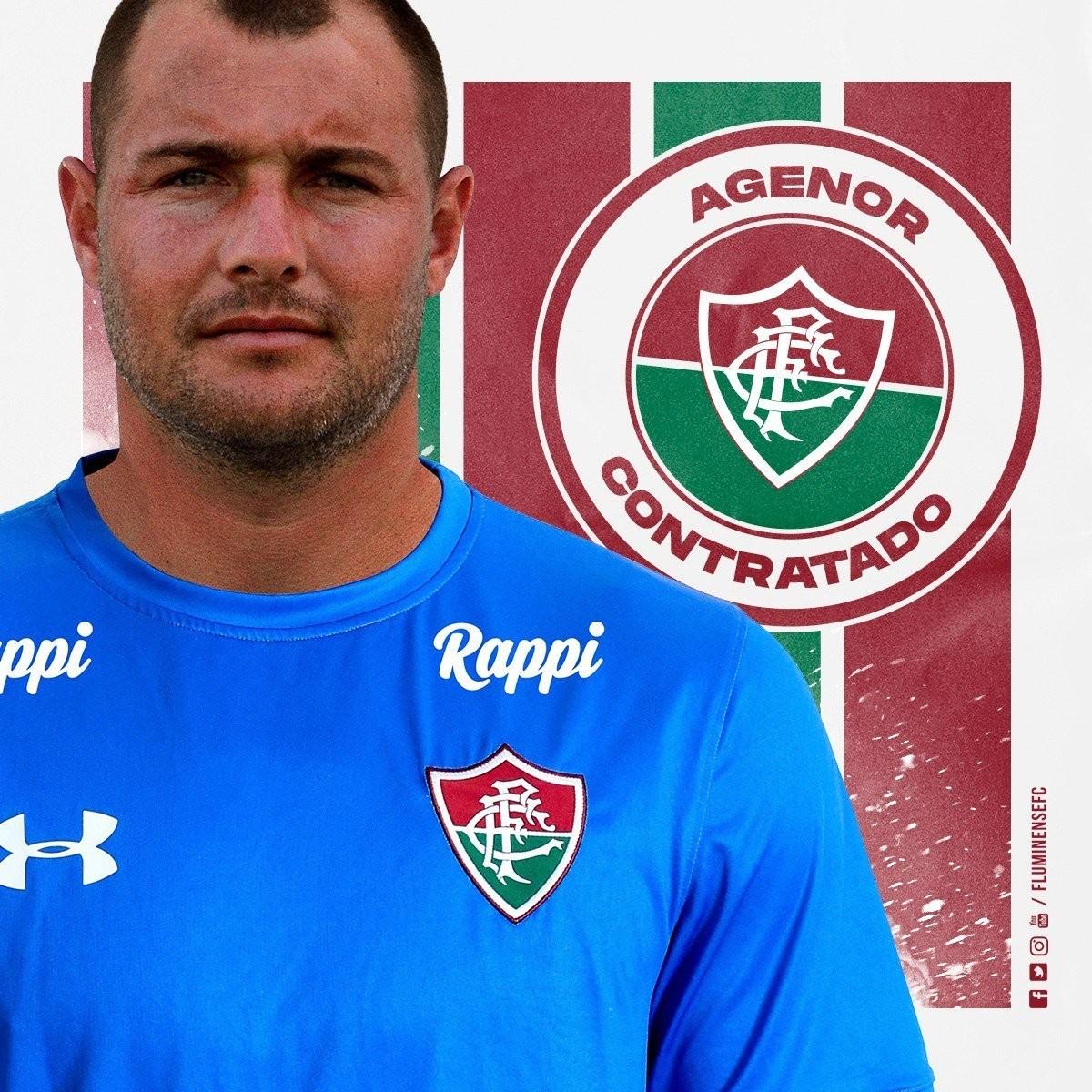 e85d914eb4f8f Fluminense anuncia contratação do goleiro Agenor