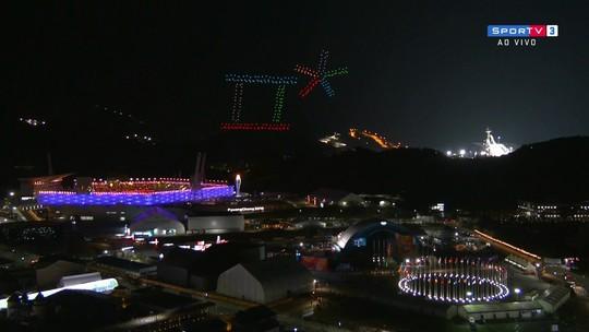 Confira o show de imagens feitas com drones no céu de PyeongChang