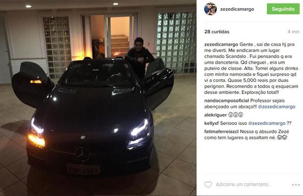 Post de Zez[e Di Camargo (Foto: Instagram/ Reprodução)