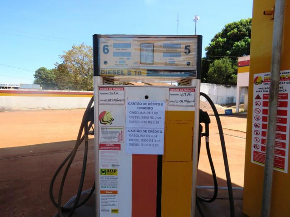 Preço médio da gasolina está acima da média nacional no Tocantins (Foto: Nara Moura/Governo do Tocantins)
