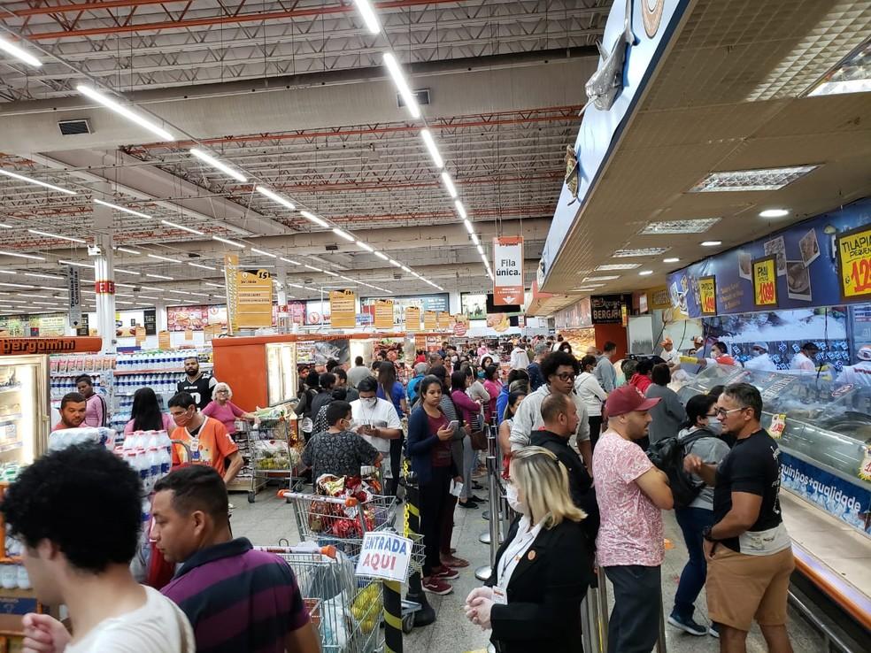 Supermercado na Zona Norte de São Paulo — Foto: Kátia Beziaco/Arquivo pessoal