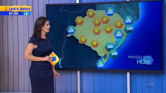 Litoral do Rio Grande do Sul pode registrar chuva nesta quarta