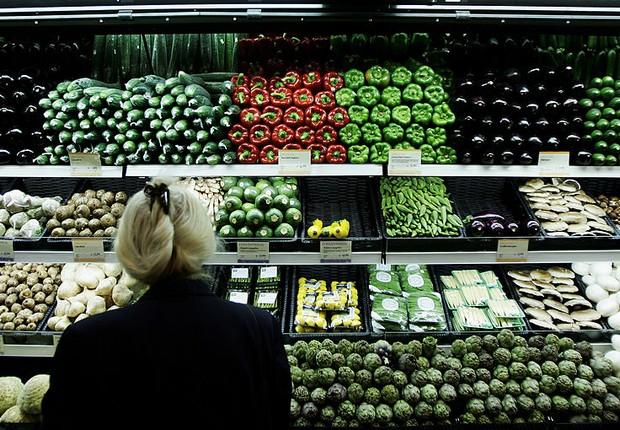 Mercado orgânico - orgânicos - vegetais - mercado orgânico (Foto: Bruno Vincent/Getty Images)