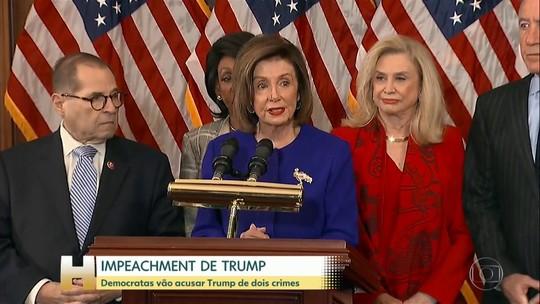 Deputados democratas afirmam que vão processar Trump por abuso de poder