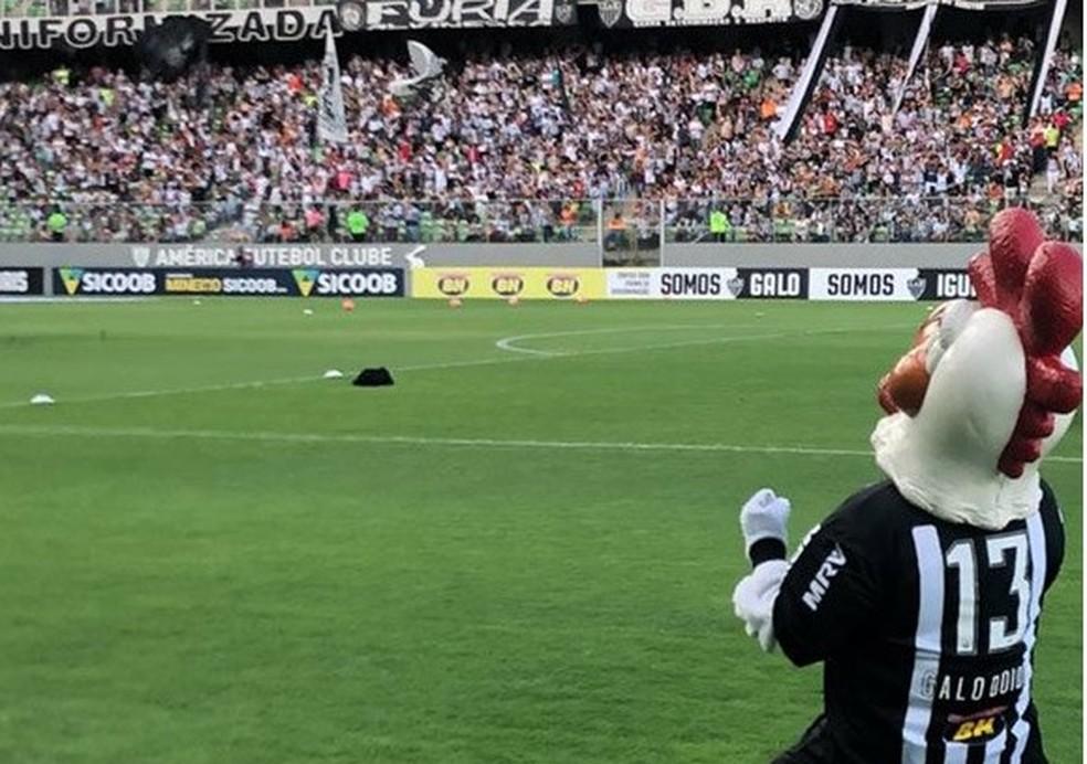 Atleticanos apostam da força do Galo no Horto para reverter vantagem e ficar com título — Foto: Twitter Atlético-MG