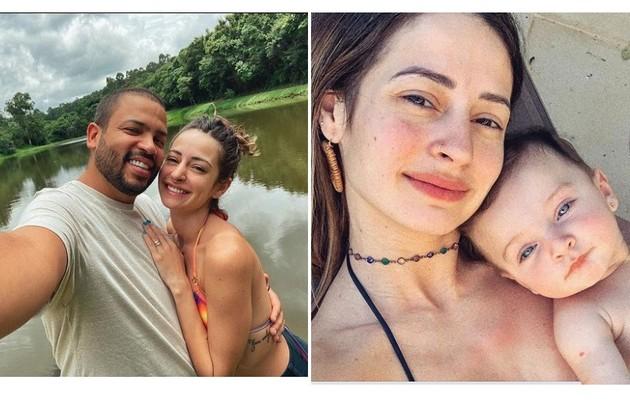 Projota é casado com a influenciadora Tâmara Contro, que tem 237 mil seguidores no Instagram. Os dois são pais de Marieva, de quase 2 anos (Foto: Reprodução)