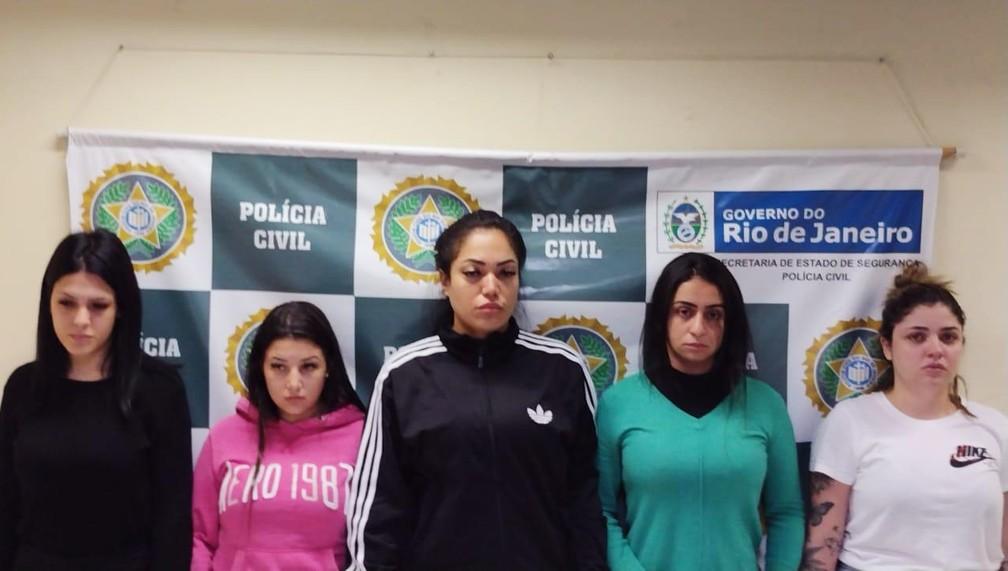 Mariana Serrano, Gabriela Vieira, Rayane Sousa, Anna Carolinas  e Yasmin Navarro — Foto: Reprodução