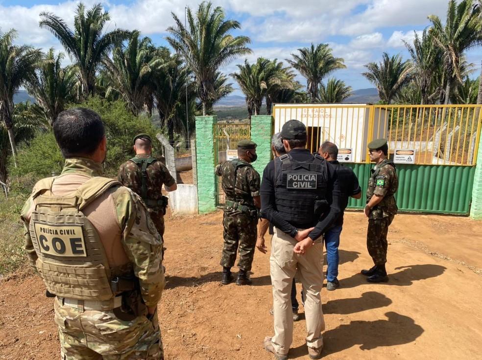 Operação da Polícia Civil desarticula rota de explosivos usados em ataques a bancos no norte da Bahia — Foto: Ascom-PC /Haeckel Dias