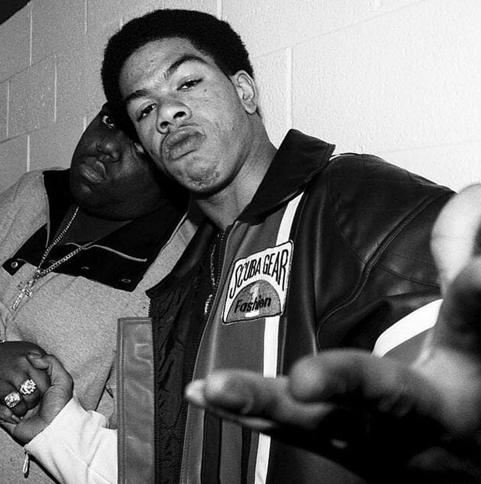 -  O rappers FunkFlex e Craig Mack em foto publicada no Instagram  Foto: Reprodução/Instagram/FunkFlex