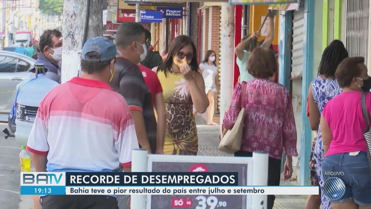 Bahia tem cerca de 1,2 milhão de pessoas sem emprego, de acordo com pesquisa do IBGE