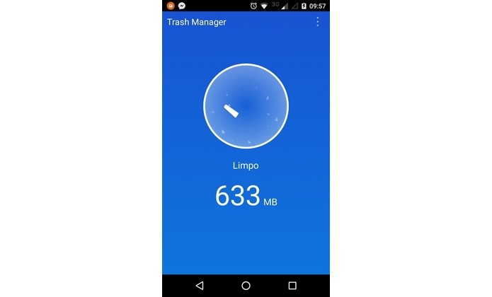 Android com memória aumentada através do Trash Manager (Foto: Reprodução/Raquel Freire)