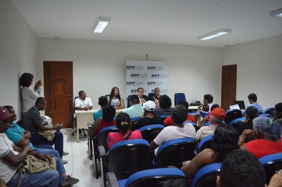 MPF realiza audiência pública após visitar quatro comunidades quilombolas de Santarém (Foto: Fábio Cadete/G1)