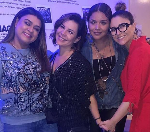 Preta Gil, Fernanda Souza, Maria Rita e amiga em show do Thiaguinho (Foto: Reprodução/Instagram)