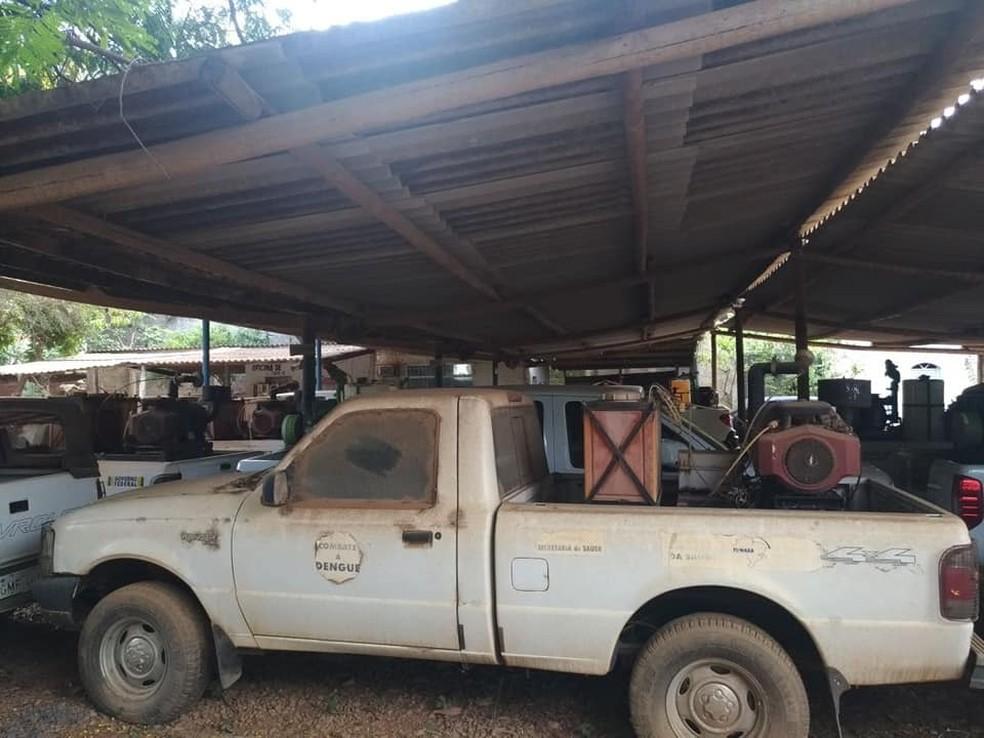 Veículos para combate à dengue (Foto: Sóter Magno/Arquivo pessoal)