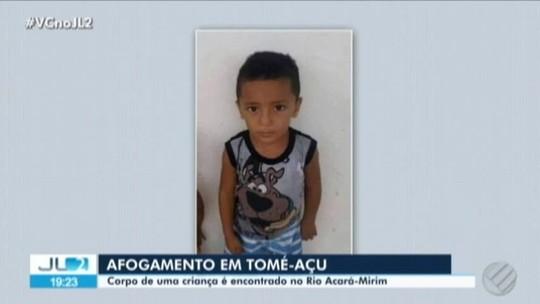 Corpo de criança é encontrado após três dias de buscas em Tomé-Açú