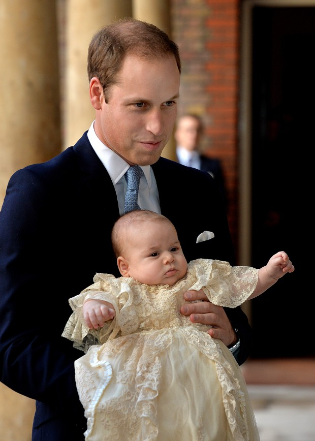 Príncipe William com príncipe George (Foto: Getty Images)