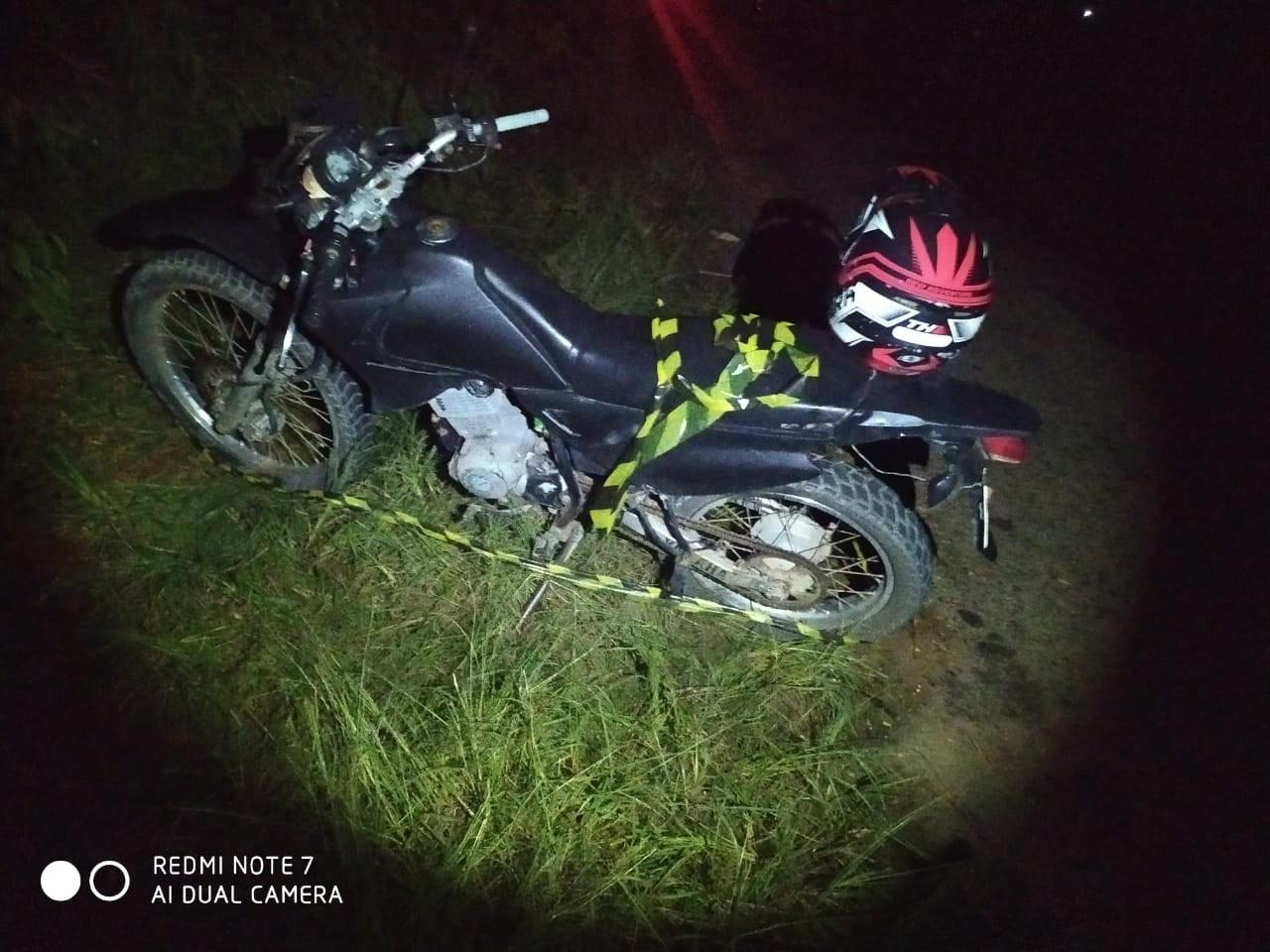 Adolescente de 17 anos morre em acidente de moto em Itaipé