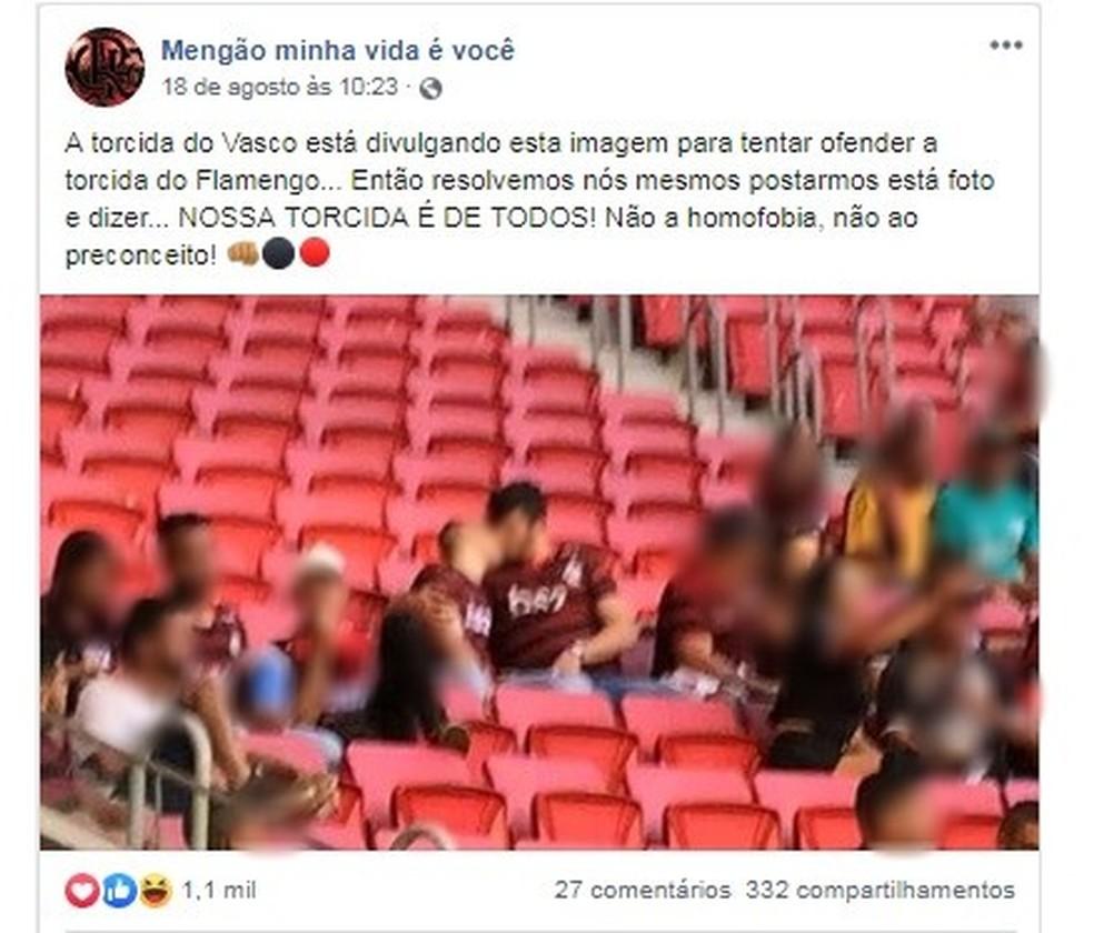 Torcida Do Flamengo Posta Foto De Beijo Gay Contra Homofobia