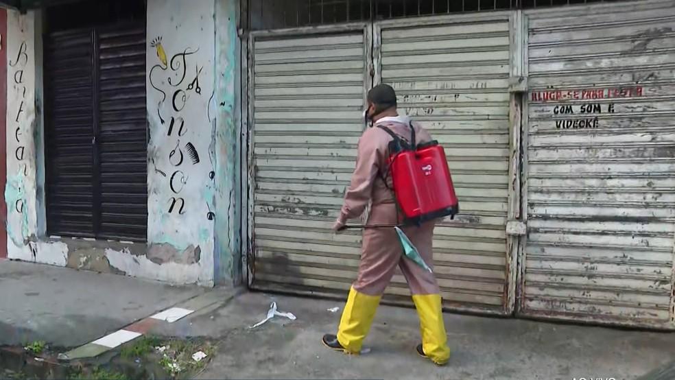 Bairro da Liberdade passa pela segunda vez por medidas restritivas — Foto: Reprodução/TV Bahia