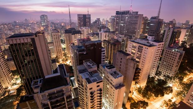 Vista aérea da cidade de São Paulo, imóveis, imóvel (Foto: Thinkstock)