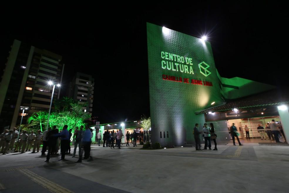 Reinauguração do Centro de Cultura foi feita na noite de terça-feira (3) (Foto: Paula Fróes/ GOVBA)