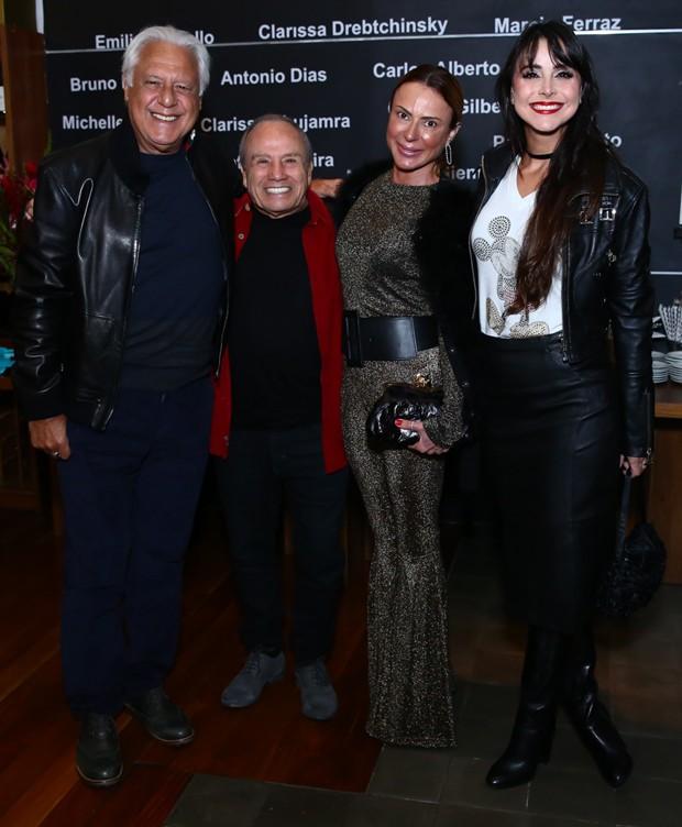 Antônio Fagundes, Stênio Garcia, Marilene Saad e Alexandra Martins (Foto: Roberto Filho/Brazil News)