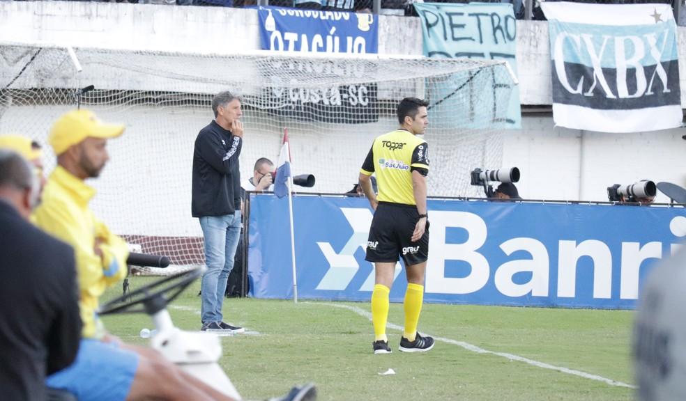 técnico Renato Gaúcho, Grêmio, final turno Gauchão Caxias — Foto: Lucas Bubols/GloboEsporte.com