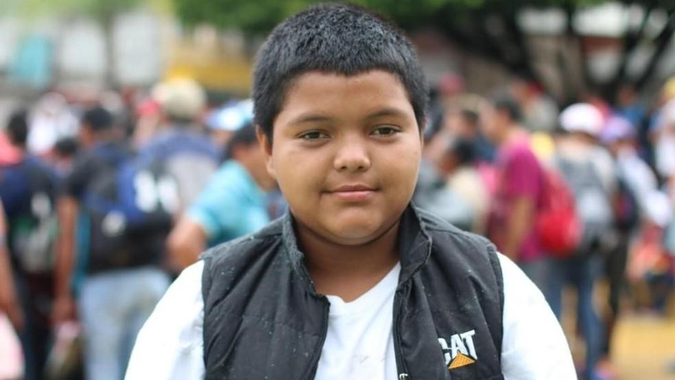Mario diz que sua missão é chegar aos Estados Unidos — Foto: ANDREA GODÍNEZ/BBC
