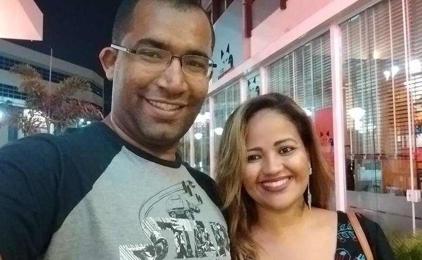 Miguel Machado e a esposa, Gih Luz